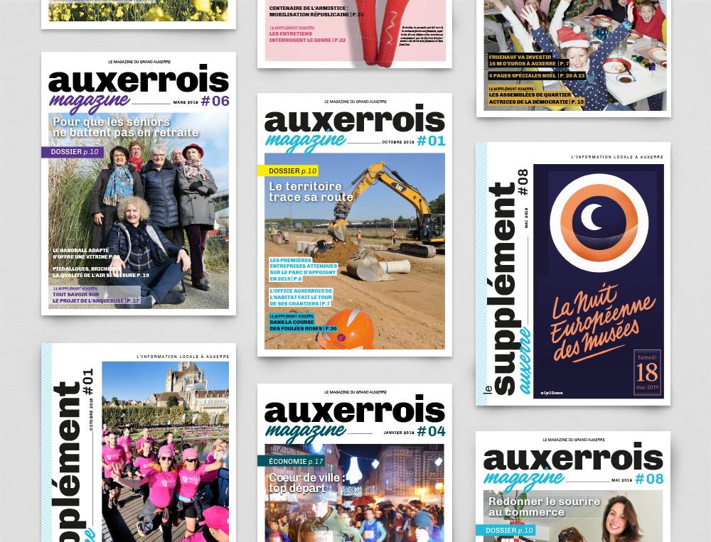 AUXERROIS magazine agence 4aout conception graphique