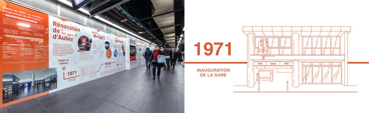 RATP communication renovation auber