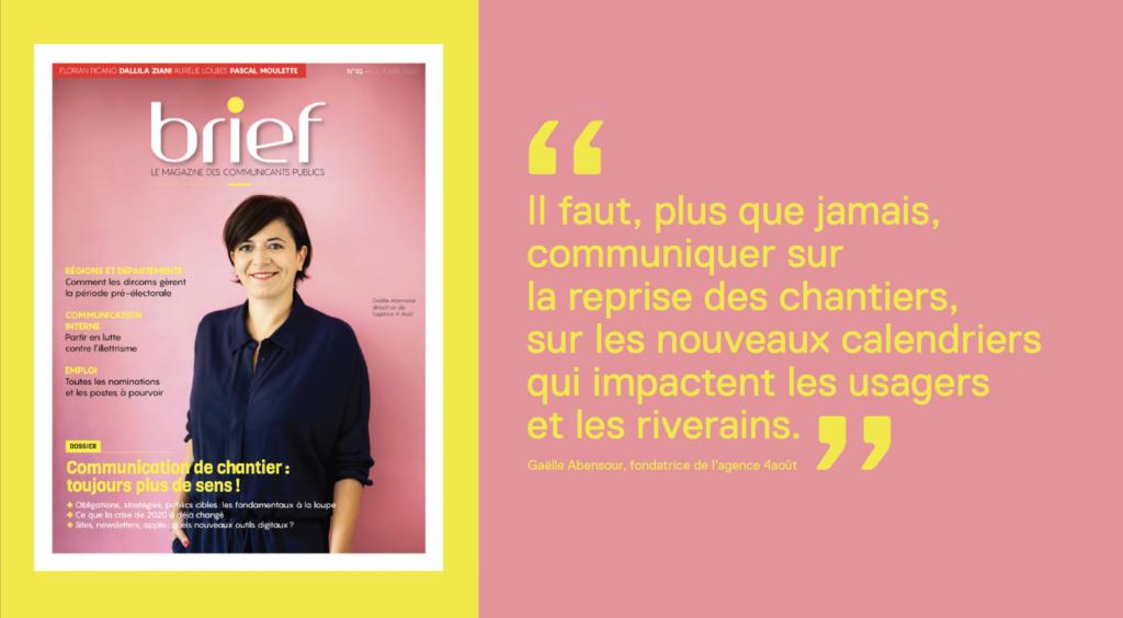 magazine Brief gaelle abensour agence 4août octobre 2020